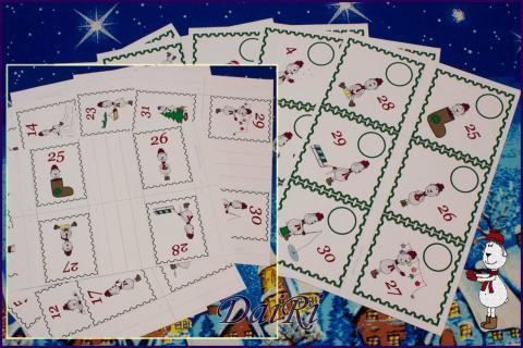 Бирки и карманы для создания адвент-календаря