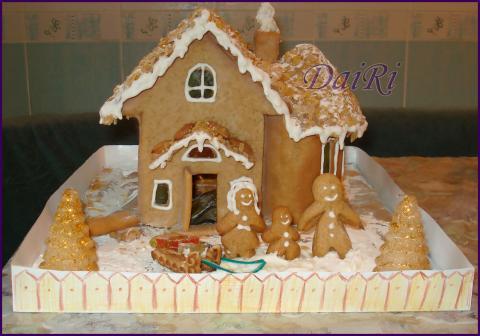 Пряничный домик. Необычный подарок. Как сделать пряничный домик