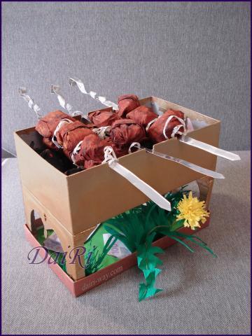 Сладкий букет (композиция) шашлык на природе